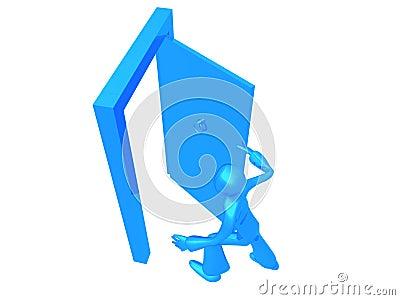 Running out Blue Boy