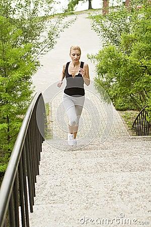 Running over steps