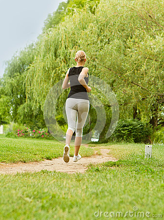 Running in park