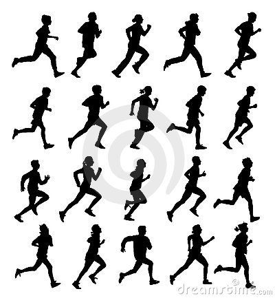 Free Running People Royalty Free Stock Photo - 17284405