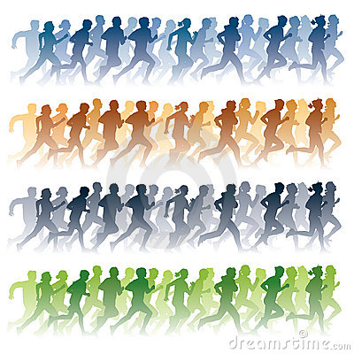 Free Running People Royalty Free Stock Photography - 17610427