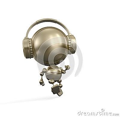 Running robot with Headphone