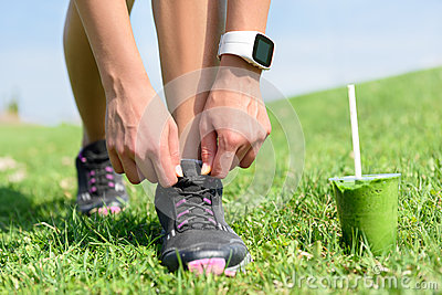 Smartwatch And Running Shoes