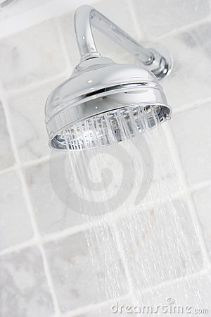 Running shower