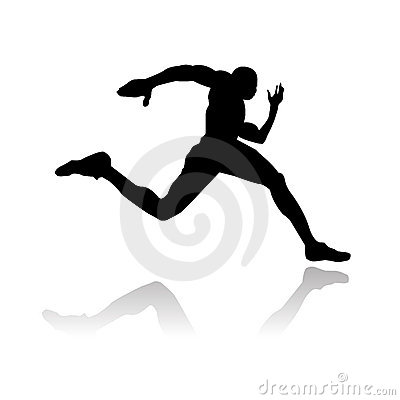Running silhouette för idrottsman nen