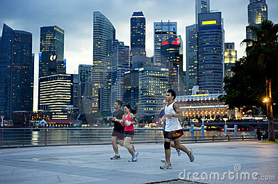 Running in Singapore Editorial Image
