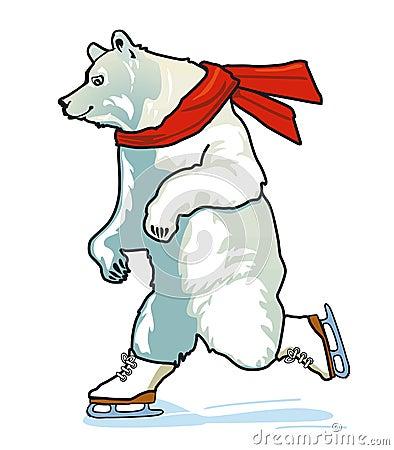 Running Skating Polar Bear