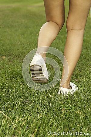 Running sport Girl