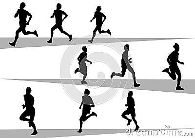 Running sport mans