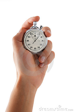 Free Running Stopwatch In The Hand Stock Photo - 11634630