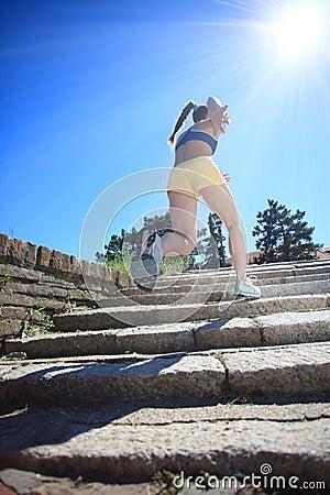Running on sunny day