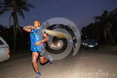 Running Team Canoe Marathon Editorial Image