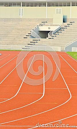 Running track and stadium