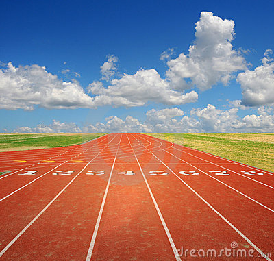 Free Running Track With Clouds Royalty Free Stock Images - 7135249