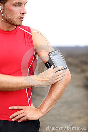 Running training music - runner man listening