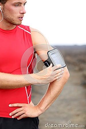 Running training music - runner man listening