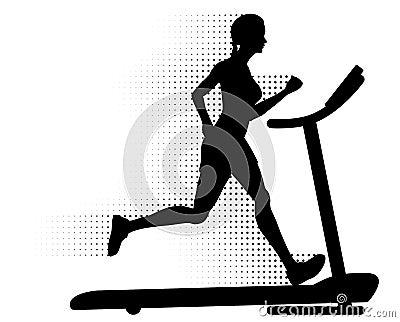 Running treadmillkvinna