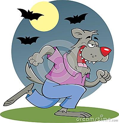 Running Werewolf in moonlight