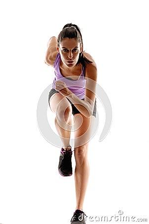 Free Running Woman. Stock Photos - 31047743