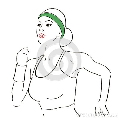 Running woman sketch