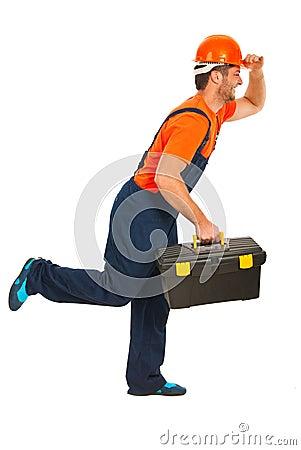 Running workman