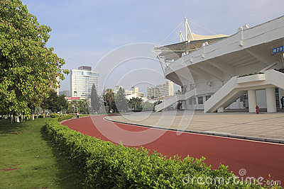 The runway out of stadium of amoy city Editorial Stock Image