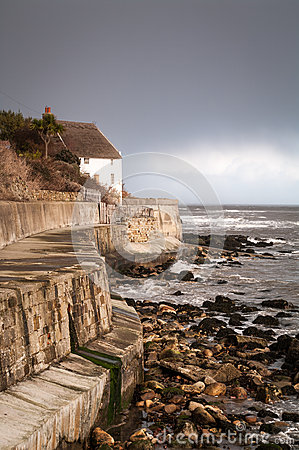Free Runwick Bay - White House - North Yorkshire - UK Royalty Free Stock Images - 52834929