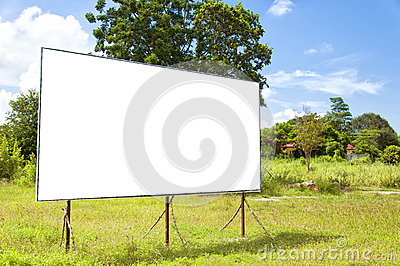 Rural blank bilboard