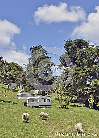Rural campsite scene