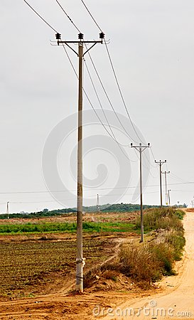 Free Rural Electricity Pylons In Israel Royalty Free Stock Image - 38957556