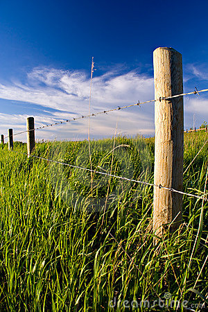Rural Fenceline Stock Image - Image: 415321