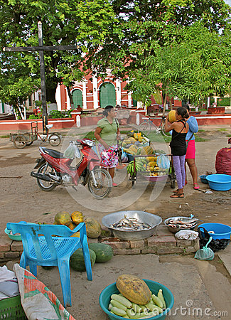 Rural Food Market, Mompos, Colombia Editorial Photo