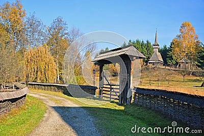 Rural gate in maramures