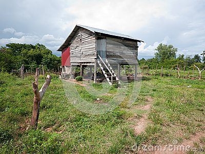 Rural home in Cambodia