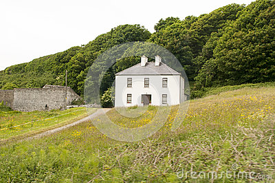 Rural Irish country farmhouse