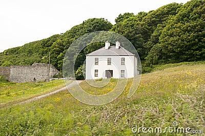 Rural Irish country farmhouse