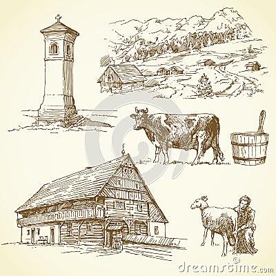 Rural landscape, agriculture