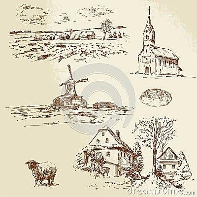 Rural landscape, farm