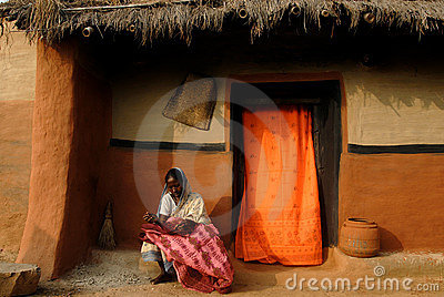 Rural Life in India Editorial Photo