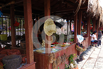 Rural market, Yunnan travel Editorial Stock Photo