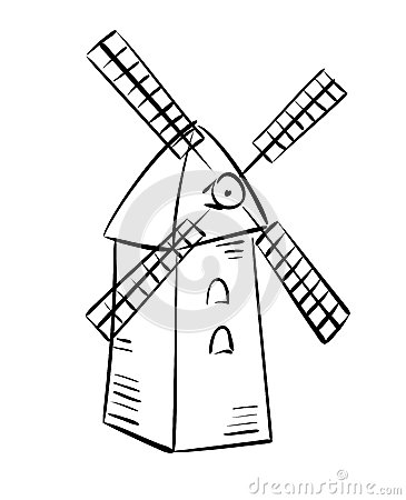 Free Rural Mill - Vector Sketch Stock Images - 37781924