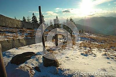 Rural mountains view