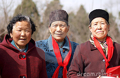 Rural old women Editorial Photo