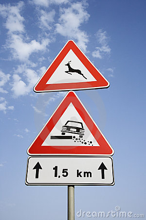 Rural Road Signs in Europe