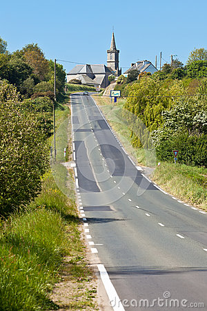 Rural Road at Western France