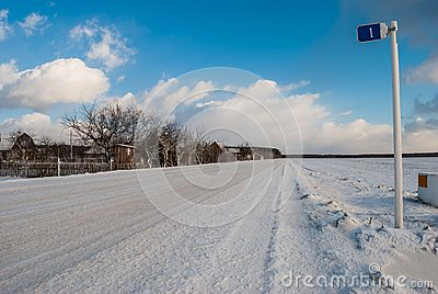 Rural road in winter