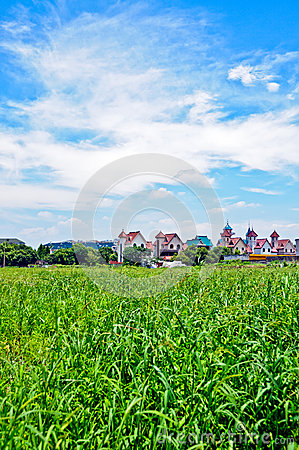 The rural scenery