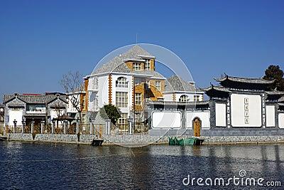 Rural scenery around Erhai lake and Dali, Yunnan province, China