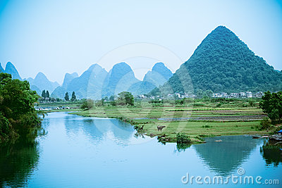 Rural scenery in China Yangshuo