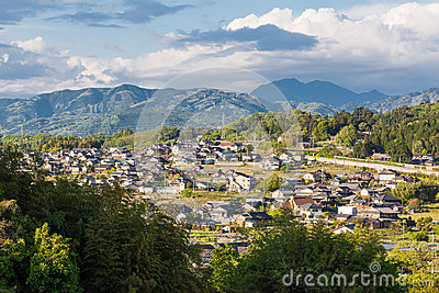 Rural Settlement of Nakatsugawa in Gifu Prefecture, Japan.